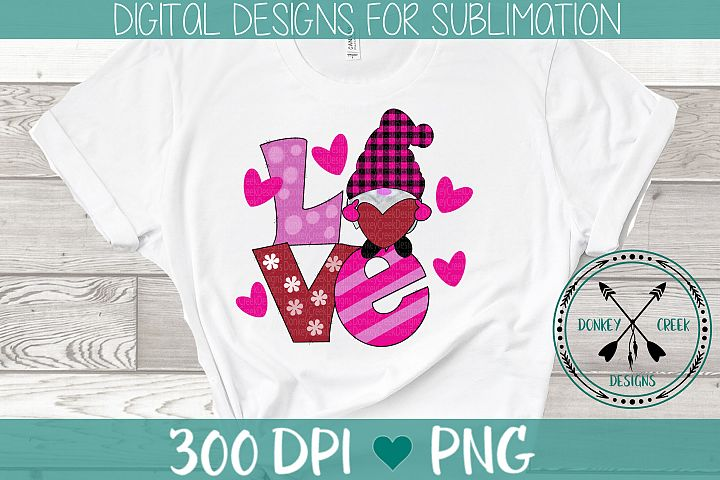 Hand Drawn Valentines Day Gnomes Sublimation PNG