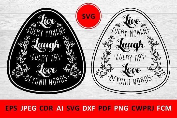 Valentine Love Family SVG Quote cut file
