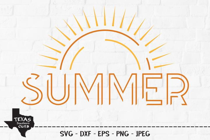 Summer SVG, Cut File, Summer Sun, Vacation Shirt Design