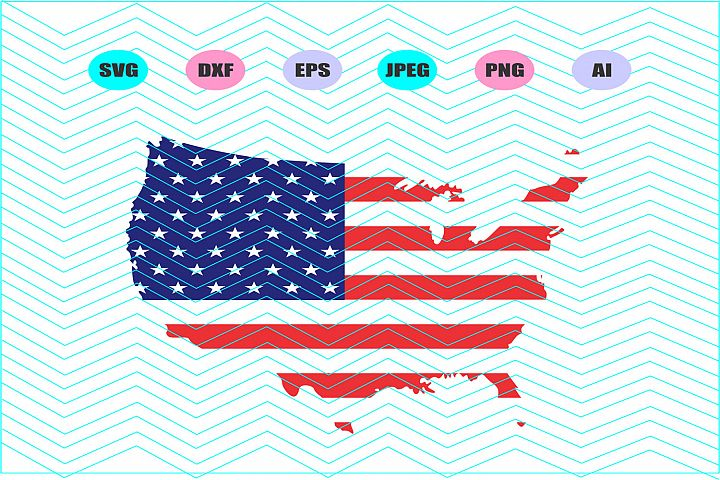 American Flag Distressed Svg Vector File Silhouette Cricut