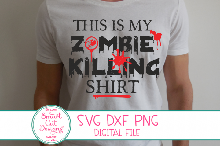 This Is My Zombie Killing Shirt SVG, Funny Halloween SVG