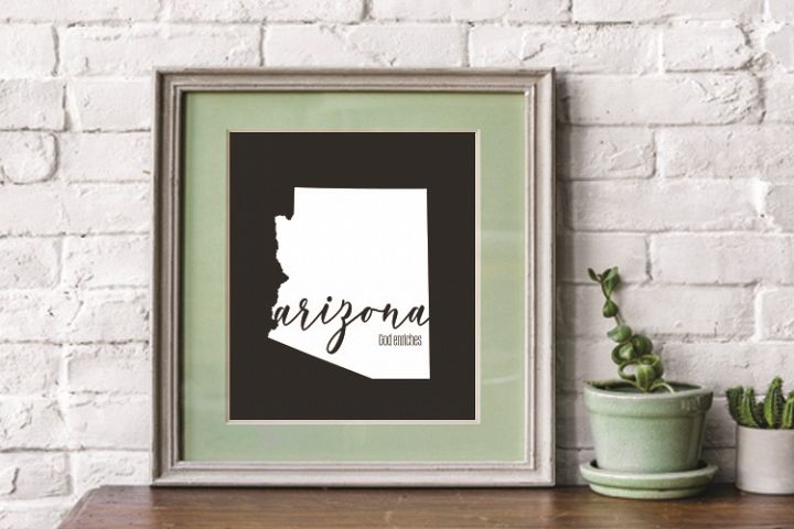Arizona, Arizona state, Arizona motto, PRINT, CUT, DESIGN