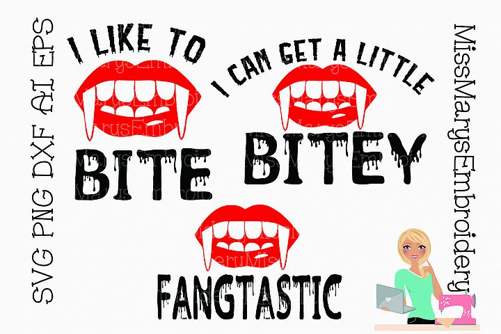 Vampire Sayings SVG Cutting File PNG DXF