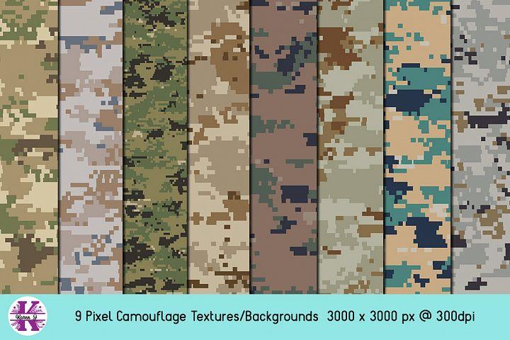 Pixel Camouflage Bundle - Backgrounds - Textures