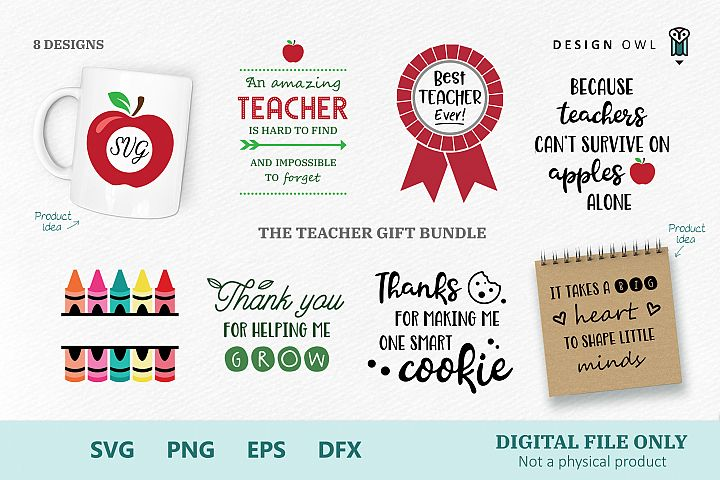 The Teacher Gift Bundle - SVG cut files