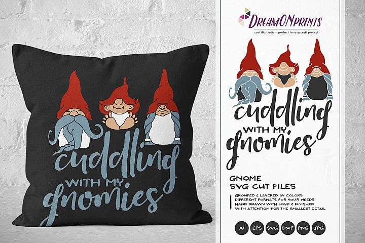 Gnome SVG - Cuddling with My Gnomies SVG