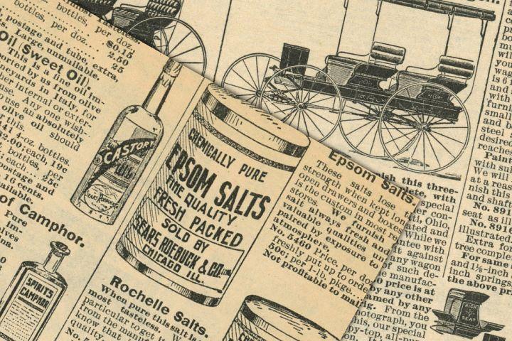 Antique Catalog Pages Digital Paper Ephemera example 3