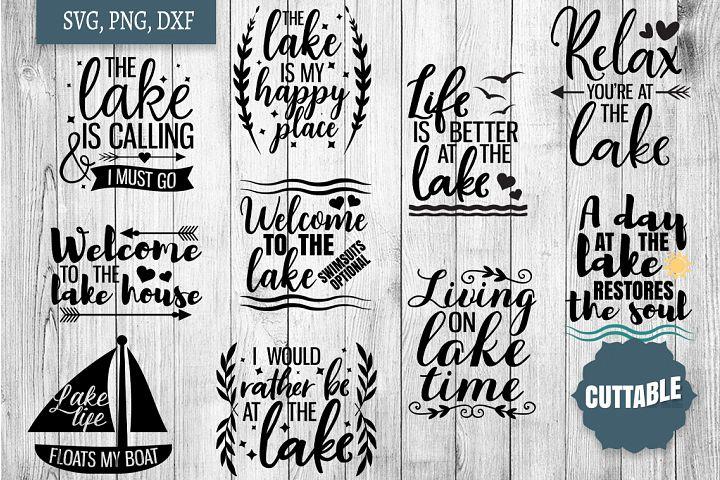 Lake SVG bundle, Lake home cut file bundle, Lake quote SVGs