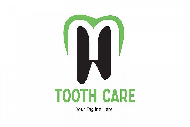 L letter dental tooth logo