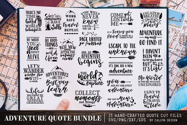 Adventure & Travel Quote SVG Cut File Bundle
