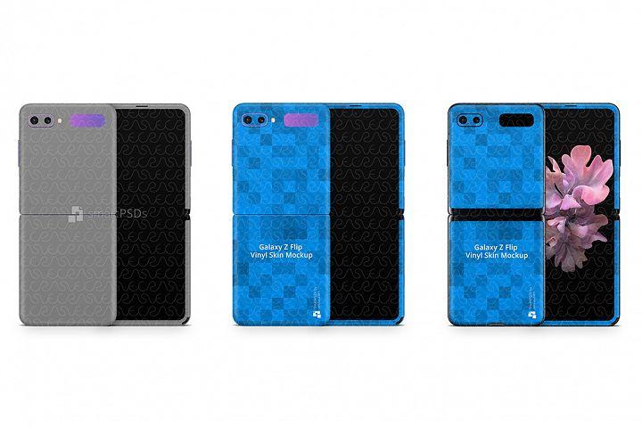 Samsung Galaxy Z Flip 2020 PSD Skin Mockup Template