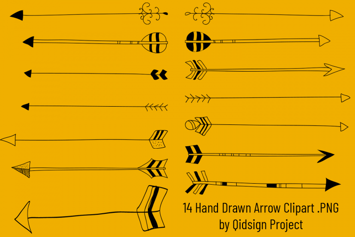 Hand Drawn Arrow Clipart PNG