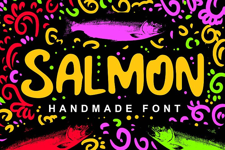 Salmon Fancy Font