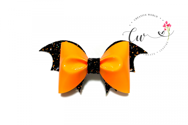 New Halloween Bat Pinch Hair Bow Digital Template