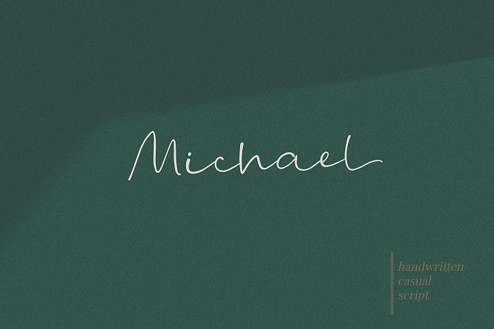 Michael - a casual handwritten script