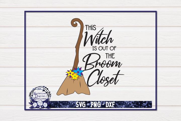 Witch SVG - Broom Closet SVG - Instant download - Wicca