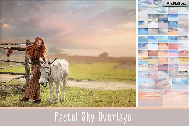 Pastel sky overlays