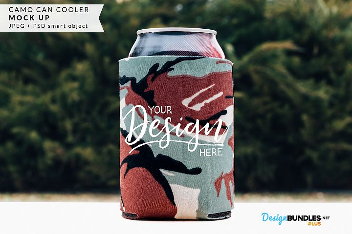 Camo Can Cooler Mock up