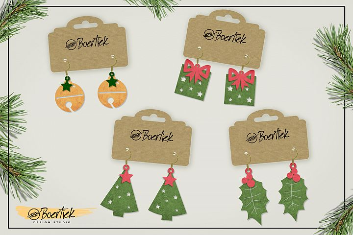 DIY Christmas earrings, SVG cutfile