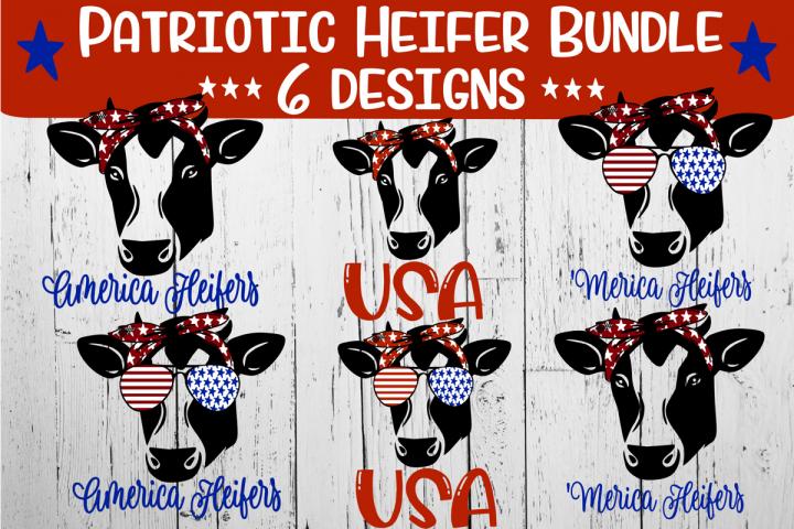 Patriotic Heifer Bundle - Six Designs Included
