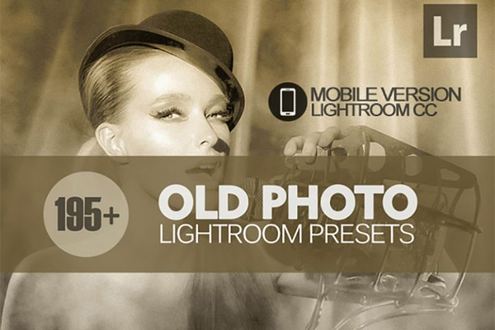 195 Old Photo Lightroom Mobile bundle Presets