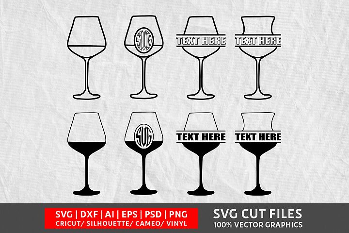 Wine Glass Image SVG Vol-10