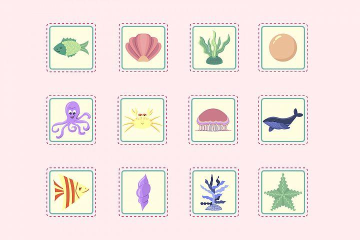 Sea inhabitants - Stickers