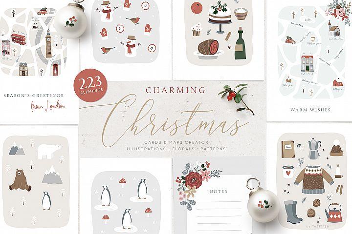 Charming Christmas card & map creator