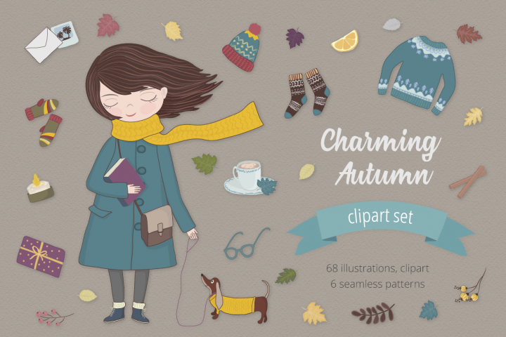 Charming Autumn Illustration Set