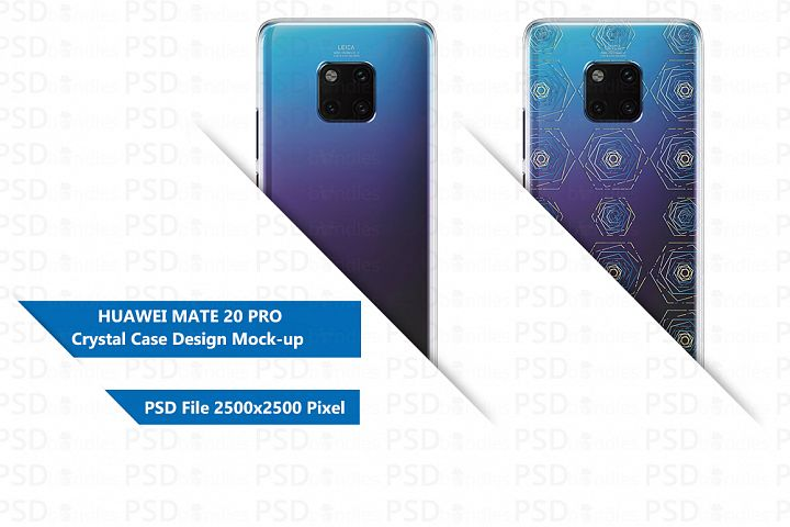 Huawei Mate 20 Pro 3d Crystal case design Mock-up