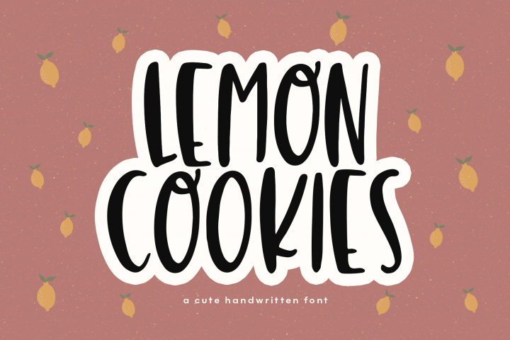 Lemon Cookies - A Fun Handwritten Font