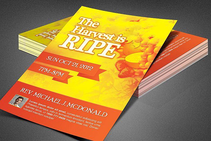 Harvest is Ripe Church Flyer