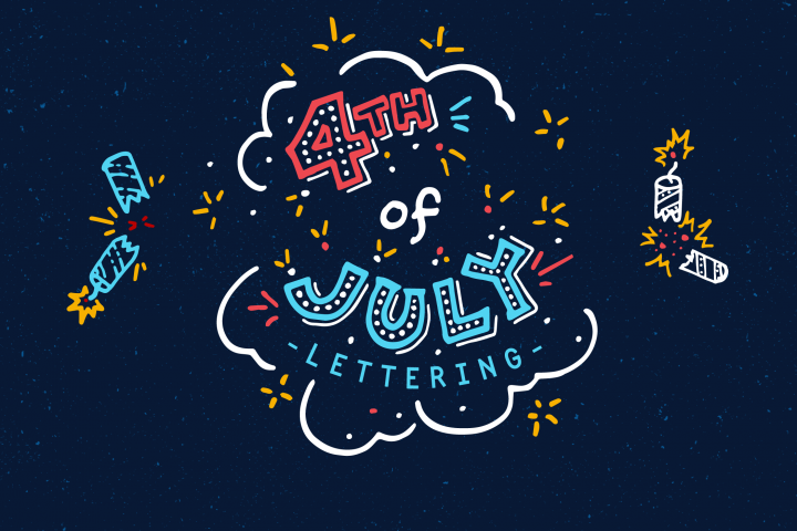 4th of July Americana Lettering Pack