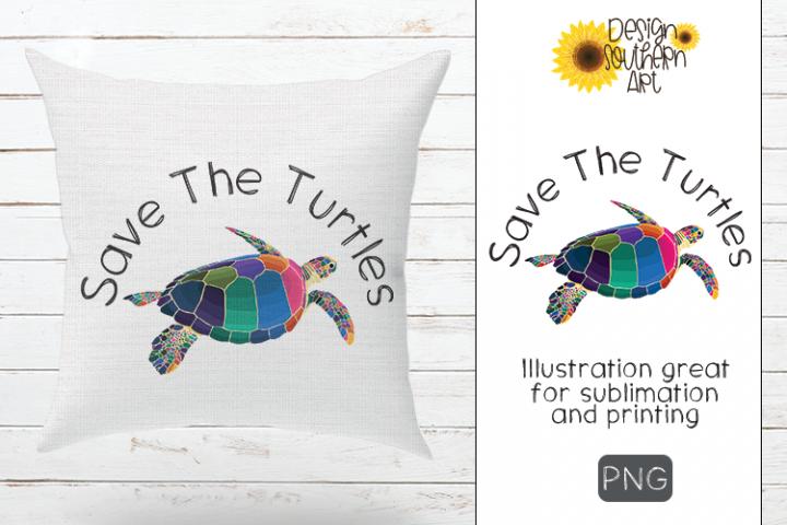 Sublimation VSCO Save The Turtles Design