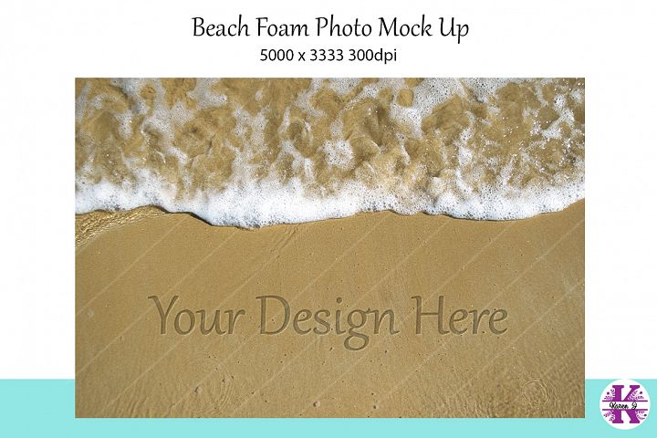 Beack Foam photo Mock Up