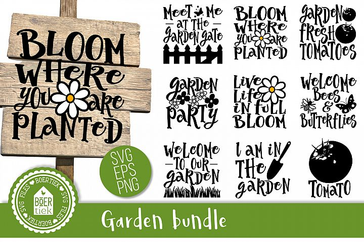 Garden bundle, SVG cutting files