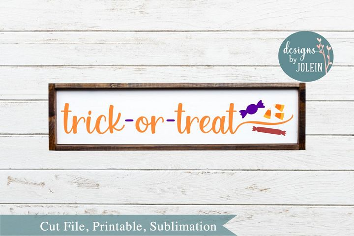 Trick or Treat with Candy SVG, png, eps, DXF, sublimation