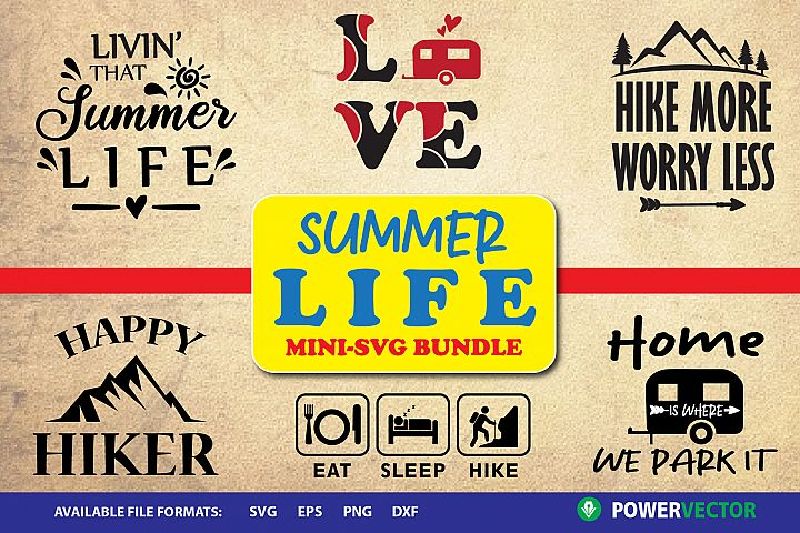 Summer Life - Camping, Hiking SVG Designs