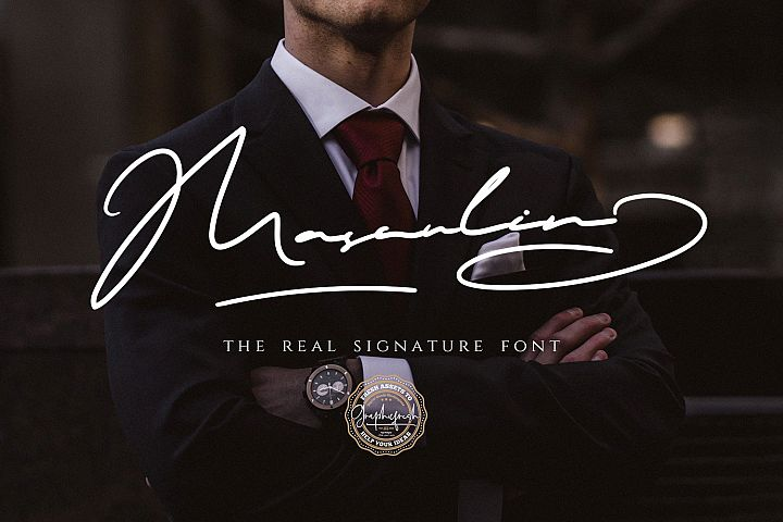 MASCULIN - The Real Signature Font