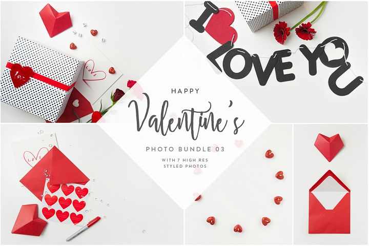 Valentines Styled Photo Bundle - Red