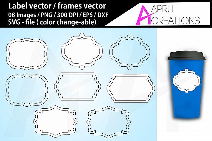 label svg / frames svg / vector labels