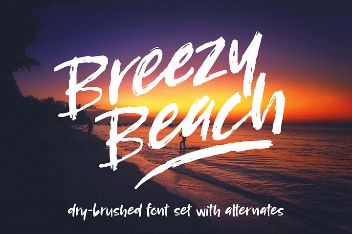 Breezy Beach - a dry brushed font!
