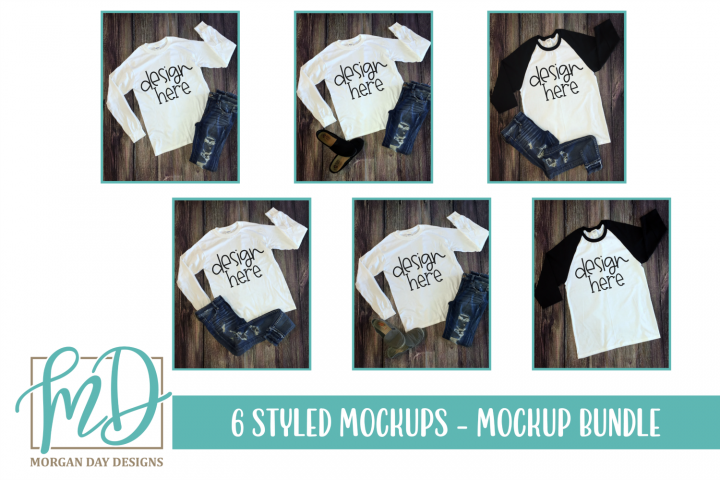 Styled Photo - T Shirt Flay Lay - Mockup Bundle