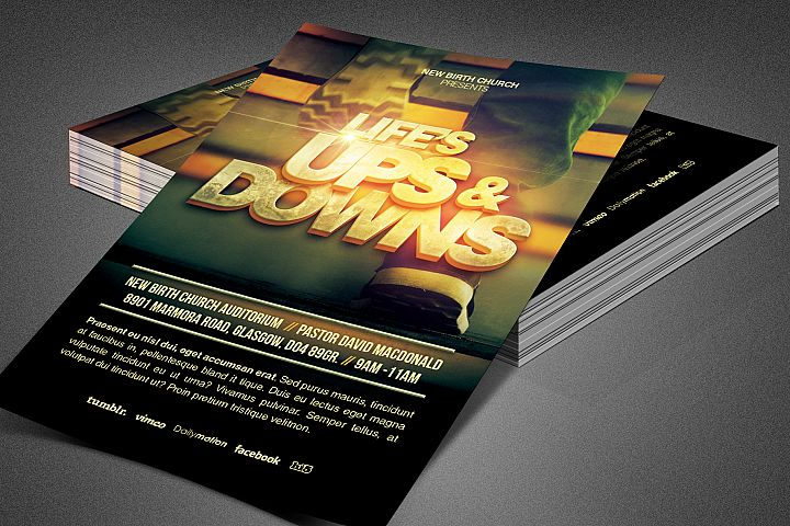 Lifes Ups and Downs Church Flyer