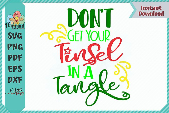 HHD Dont Get Your Tinsel In A Tangle List SVG