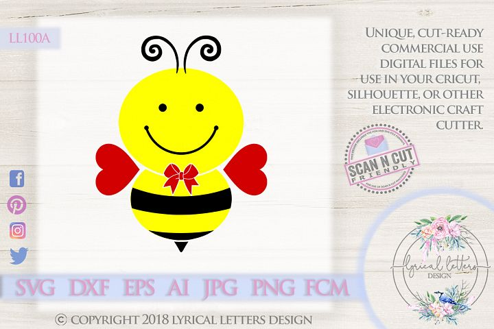Valentines Day Boy Bee SVG DXF FCM LL100A