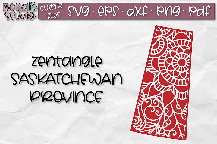 Zentangle SVG, Saskatchewan SVG, SVG, Canada SVG, Canadian