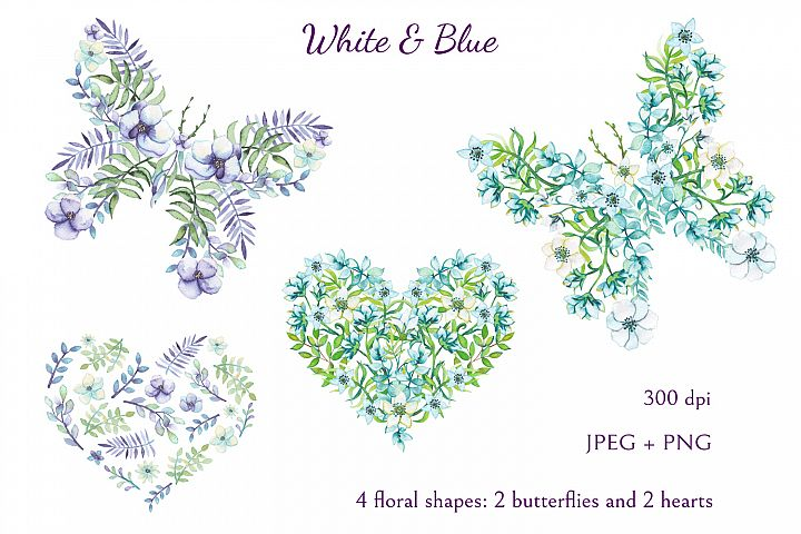 White and Blue - Free Design of The Week Design3