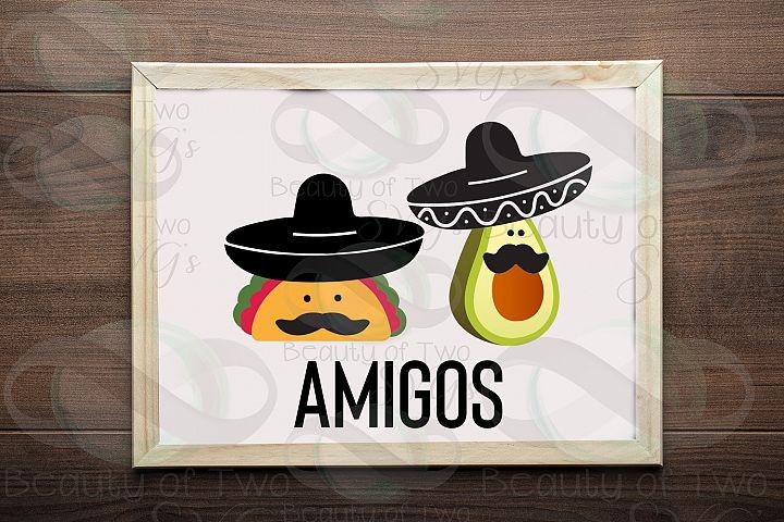 Cinco de Mayo amigos svg & png, avocado svg, taco svg