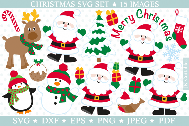 Christmas svg files SVG DXF PNG JPEG EPS Santa cutting files